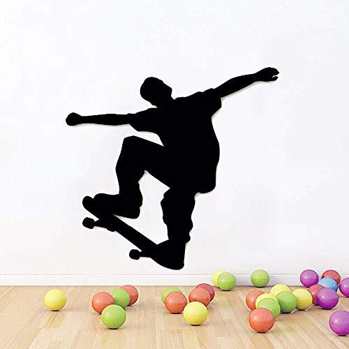 Wandaufkleber dekorative wandkunst einfache hause wandaufkleber beliebtesten wohnzimmer wanddekoration applique vinyl applique skateboard extremsport tisch 44x42 cm