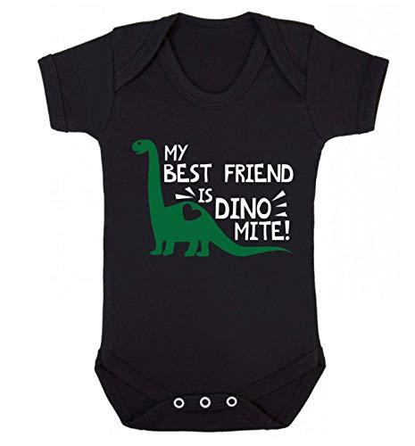 Flox Creative Baby Vest My Best Friend is Dinomite - Noir - XS
