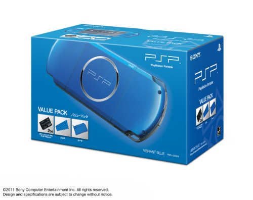 SONY PSP Playstation Portable Console JAPAN MODEL PSP-3000 Vibrant Blue Value Pack | PSPJ-30024 (Japan Import)