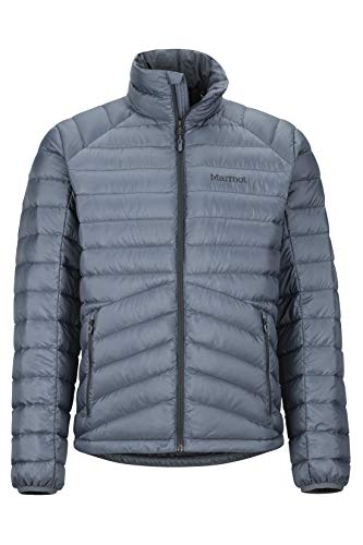 Marmot Herren Highlander Down Jacket Ultra-leichte Daunenjacke, 700 Fill-Power, Warme Outdoorjacke, Wasserabweisend, Winddicht, Steel Onyx, M