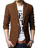 Blouson Homme Jacket - Veste -Casual-Slim, Marron 1, L