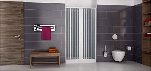Extensible en PVC douche monobloc un côté ouverture centrale 130/140 cm 2 portes