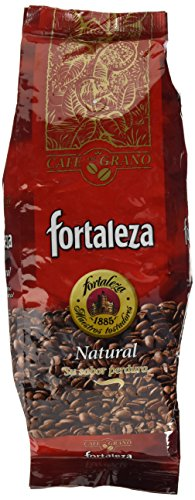 Café Fortaleza - Café en Grano Natural, Puro Sabor, de Variedades Arábicas, Intensidad Media, Aroma Herbal y Afrutado, Ideal para Cafeteras Espresso, 1kg