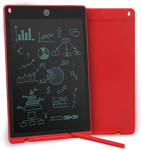 Tablet LCD 12  per scrittura digitale, lavagna elettronica per disegno e appunti, tavoletta grafica eWriter, regolazione del tocco, pulsanti per blocco e cancellazione schermo, penna inclusa