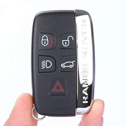 topone1 5 botones remoto clave Shell caso Smart Car Key Housing Cover Fob con palabras para Land Rover LR4 para Range Rover Sport Evoque