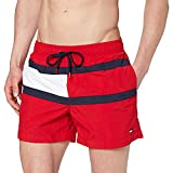 Tommy Hilfiger Medium Drawstring Pantaloncini, Rosso (Red 611), Small Uomo