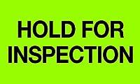 Tape Logic DL1222 Instructions Label Legend Hold For Inspection 5 Length x 3 Width Green (Roll of 500) [並行輸入品]