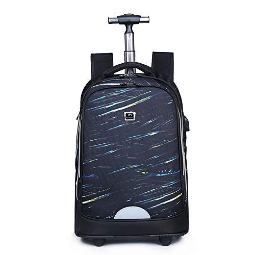 FREETT Unisex Trolley Backpack, High Capacity Trolley Suitcase, Luggage Case Bag for Child Student and School, Waterproof,4