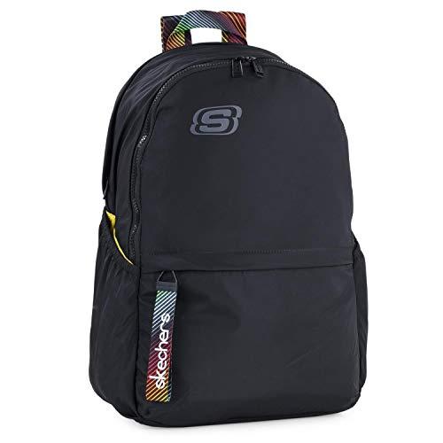 Skechers Rucksack Typ Casual Unisex Erwachsene mit Innentasche iPad Tablet für den täglichen Gebrauch, bequem, vielseitig einsetzbar, Schwarz, Einheitsgröße