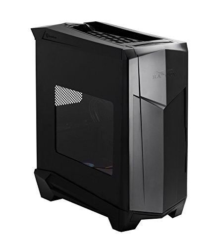 SilverStone SST-RV05B-W - Raven Midi Tower Gaming Gehäuse mit Fenster, hochleistungsfähigs Kühlkonzept, SSI-CEB ATX, schwarz
