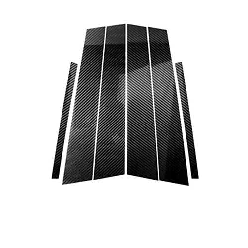 DMKJ para B-MW 3 5 Series E90 F30 F10 E60 E70 E46 F07 Fibra De Carbono Ventana De Coche Pilares B Moldura De Moldura Pegatinas De Estilo De Coche Accesorios (Color : F20(2012-2016))