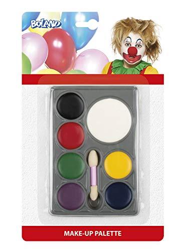 Boland 45062 Schminkset Clown, Mehrfarbig