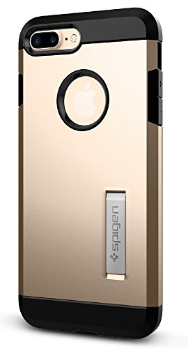 Spigen Funda iPhone 7 Plus, [Tough Armor] Heavy Duty [Oro] Extreme Protection/Rugged but Slim Dual Layer Protective Funda Carcasa para iPhone 7 Plus (2016) - (043CS20530)
