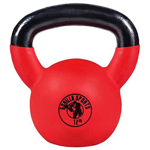 Gorilla Sports Kettlebell avec revêtement néoprène - De 2 KG à 32 KG