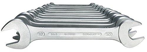 Gedore 6-12 Juego de llaves fijas de doble boca 12 pzas 6-32 mm, 6-32mm, Set...