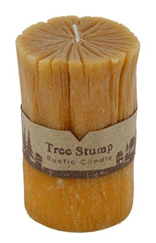 Bougie en tant que tronc d'arbre, Bougie pilier 12,5 cm (Décoration de table pour automne & hiver – Advent Décoration)