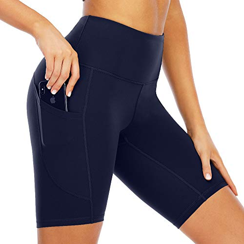 Loovoo High Waisted Leggings Shorts for Women with Pockets