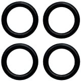 Body Candy 00 Gauge Black Rubber ORing 4 Pack