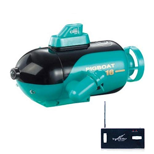 QIEZI Mini Juguete Submarino RC, Barco RC para niños para Piscinas y Lagos, Barco de Control Remoto por Radio, Barco de Buceo eléctrico Impermeable, Juguete de Agua - Amarillo
