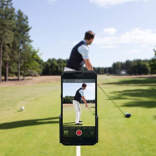 Golf Phone Holder Golf Swing Recording Training Aids,Record Golf Swing/Short Game/Putting-Compatible with Any Smart Phone,Golf cart Phone Clip/car Holder,Easy to Setup and Adjust - Golf Accessories