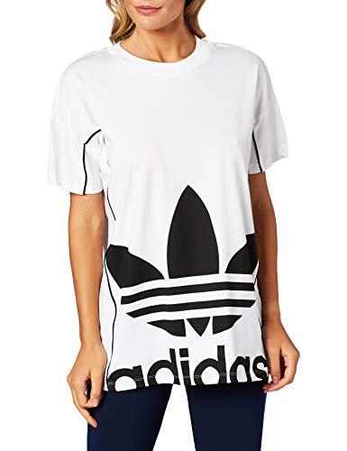 Adidas Damen LONG TEE T-shirt , White, 48 (L)