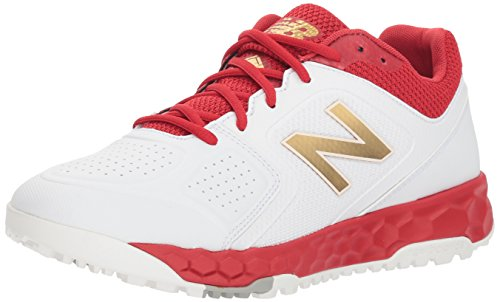 New Balance Women's Fresh Foam Velo V1 Turf Softball Shoe, Red/White, 11 W US