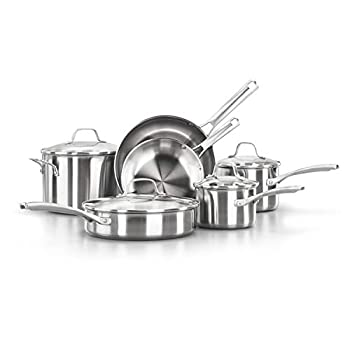 Calphalon Classic Stainless Steel Pots and Pans 10-Piece Cookware Set