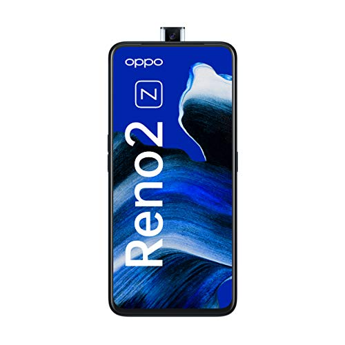 OPPO Reno2 Z Smartphone (16,5 cm (6,5 Zoll)) 128 GB interner Speicher, 8 GB RAM, AMOLED Bildschirm, Dual SIM, Quad-KI-Hauptkamera/ Pop-up-Frontkamera, luminous black – Deutsche Version inkl. Schutzcover
