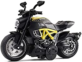 Gilumza Pull Back Vehicles Mini Motorcycle Toys, 1:14 Tiny Car Gift with Music Lighting, Classic Motorcycles Toy for...