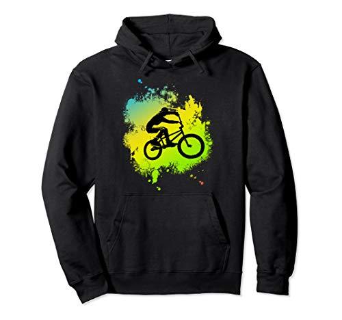 ideal Bmx Mountain Bike Geschenk für Downhill & Fahrrad Fans Pullover Hoodie