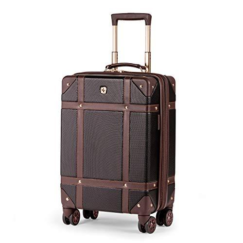 SWISSGEAR 7739 Trunk, Hardside Spinner Luggage, Carry-On - Purple