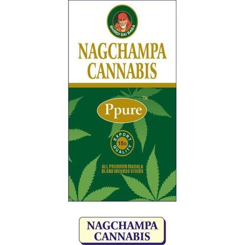 Imagen del productoppure Nag Champa Cannabis Perfume Premium Masala–Varillas de incienso 15gramos