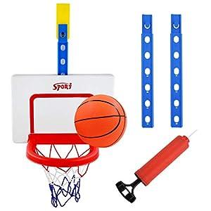 Hyselene Canasta Baloncesto Infantil , Juguetes Deportivos Bebe Interiores y Exteriores, Ajustable Niños Kids del Aro de Baloncesto y el Tablero, Juego de Bolas Diversión al Aire Libre Juguetes