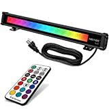 color bar - MEIKEE 25W RGBW LED Wall Washer Light, Color Changing LED Strip Light with RF Remote, IP66 Waterproof, 120V RGB LED Light Bar for Outdoor Indoor Lighting Projects Wedding Church Party Stage Lighting