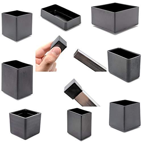 Quadratische und rechteckige Endkappen aus Kunststoff, Made in Germany. siehe das zweite Bild für die Größe (30x15mm, 12 Stück)