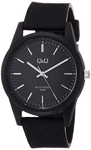 [シチズン Q&Q] 腕時計 アナログ 防水 ウレタンベルト VS40-004 メンズ ブラック
