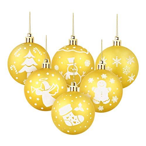 Yardwe 30Pcs Palla di Natale Ornamenti Durevole Liscio di Natale Hanging Palle di Natale Albero di Natale Decorazioni Natalizie Palla Ornamenti per Il Banchetto di Festa di Natale