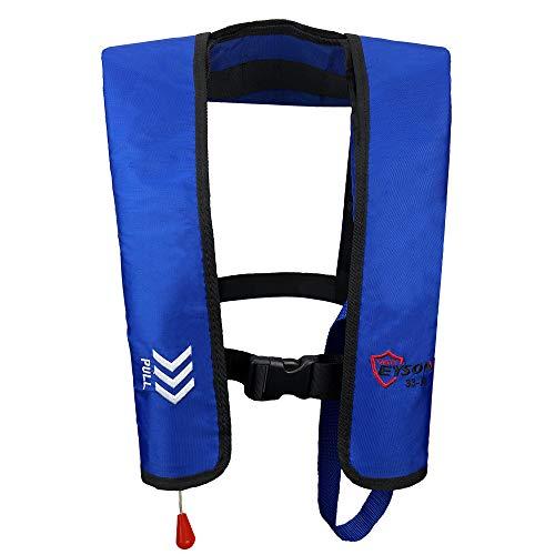 Eyson Inflatable Life Jacket Life Vest Basic Automatic/Manual (Blue Auto)
