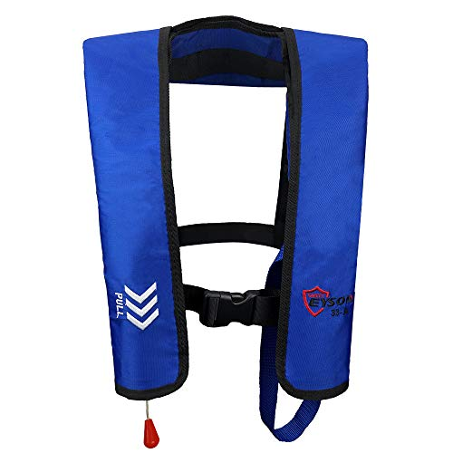 Eyson Inflatable Life Jacket Life Vest Basic Automatic/Manual (Blue Auto)
