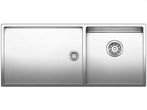 BLANCO Claron 400/550-t-u - Fregadero (Acero inoxidable, 1 senos, 400 x 400 mm, 19,1 cm, 1015 mm, 440 mm)