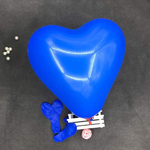 Scge 100 Piezas 12 Pulgadas 2.2g Amor romántico corazón Globo de látex Inflable decoración de la Boda Fiesta Bola de Aire Suministros de Fiesta del día de San Valentín, Azul