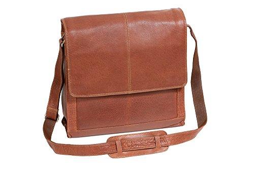 LEAS Messengertasche by CB in Echt-Leder, cognac Classic Bags