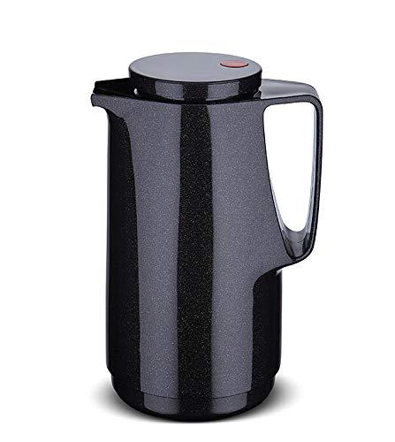 ROTPUNKT Isolierkanne 760 Maxima 1,0 l | Zweifunktions-Drehverschluss | BPA Frei- gesundes Trinken | Made in Germany | Warm + Kalthaltung | Glaseinsatz | Sparkling Black