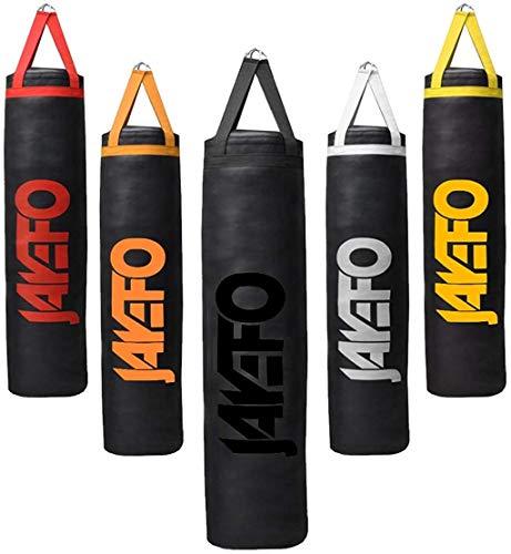 Jayefo Trexter schwerer Boxsack für Muay Thai, Boxen, MMA, Fitness, Training, Kickboxen, Bananenbeutel, Schwarz, 152 cm