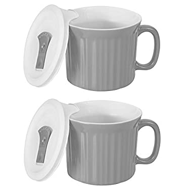 CorningWare Colours Pop-Ins 20-oz Soup Mug with Lid - 2 Pack (Truffle)