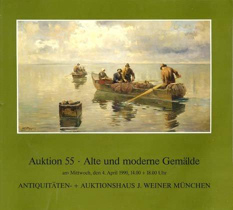 Auktion 55 - Alte und moderne Gemälde - Antiquitäten + Auktionshaus J. Weiner