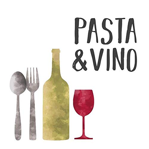 AvanCarte Servietten Geburtstag Dinner Wein Pasta 20 St 3-lagig 33x33cm