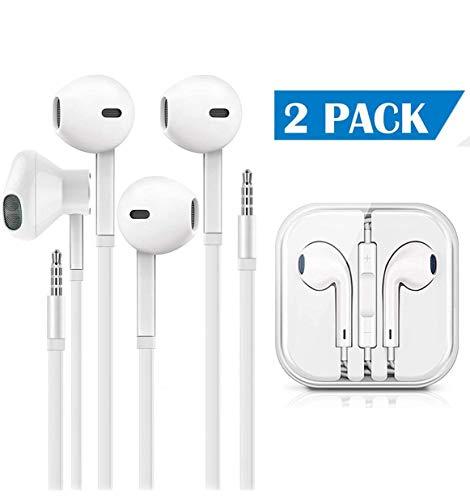 Earbuds/Earphones/Headphones, Premium in-Ear Wired Earphones with Remote & Mic Compatible with iPhone 6s/plus/6/5s/se/5c/iPad/Samsung