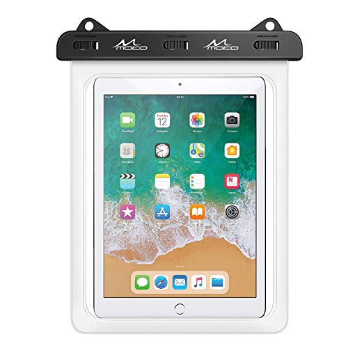 MoKo Funda Impermeable de Tablet, IPX8 Bolsa Protectora Estanca Universal para iPad Air 4/3/2, iPad Pro 11 2020, iPad 8/7/6, Galaxy Tab S7/S6/S4/S3/Tab A7 2020/Tab E, Fire HD 10 hasta 12', Blanco