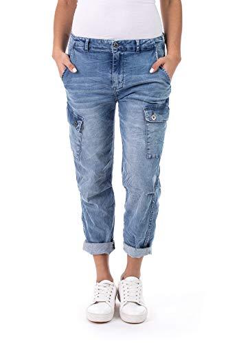Blue Monkey Jeans, Jane, BM-10511, Loose Fit Cargo (W29)